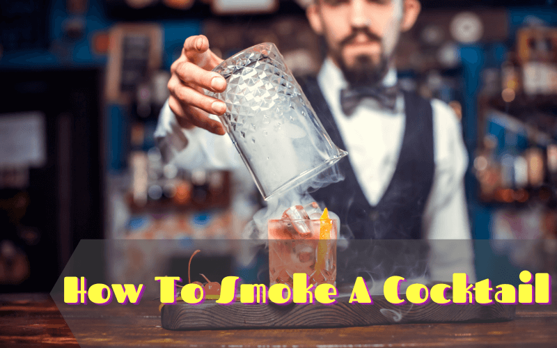 Smoked cocktail glasses with liquor