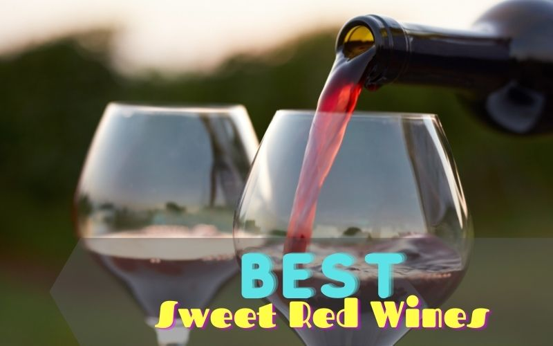 Pouring red wine into wine glasses