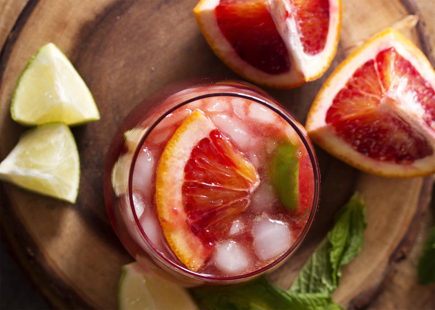 Blood Orange and Pomegranate Syrup Moscow Mule