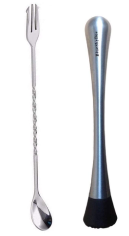 BlueSkyBos Stainless Steel Cocktail Muddler - AdvancedMixology