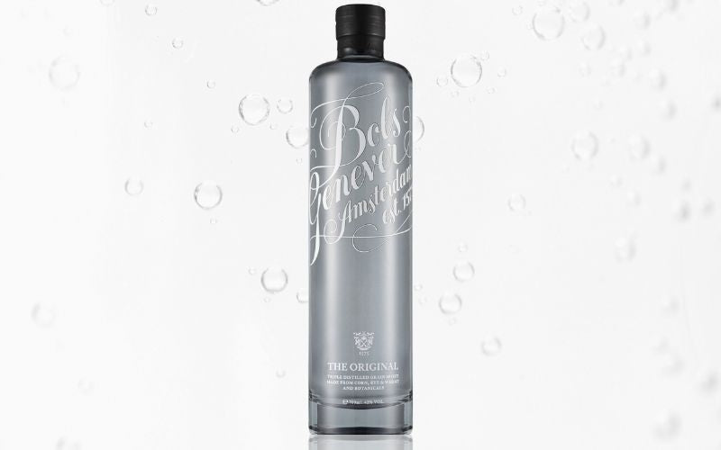 A bottle of Genever gin