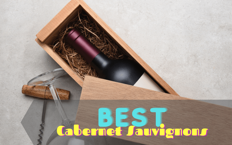 Bottle of Cabernet Sauvignon in a wooden box