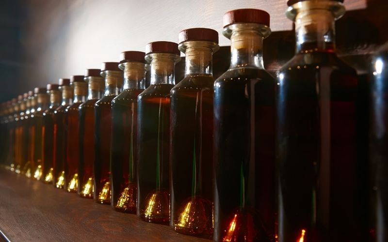Bottles of Infused Whiskey