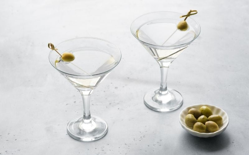 Classic Dry Martini with Olives