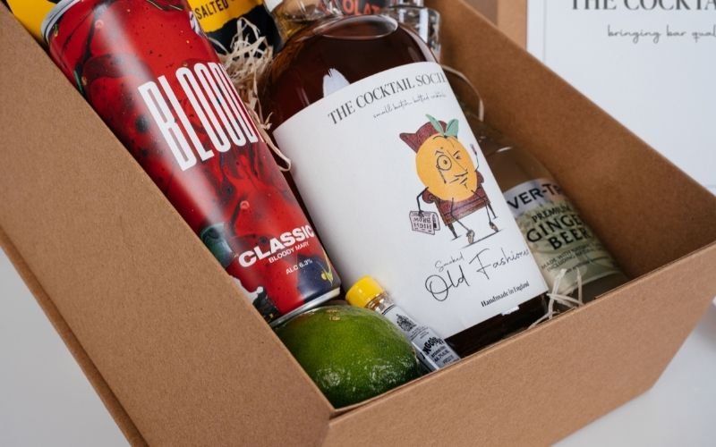 Cocktail Society Box full of ingredients