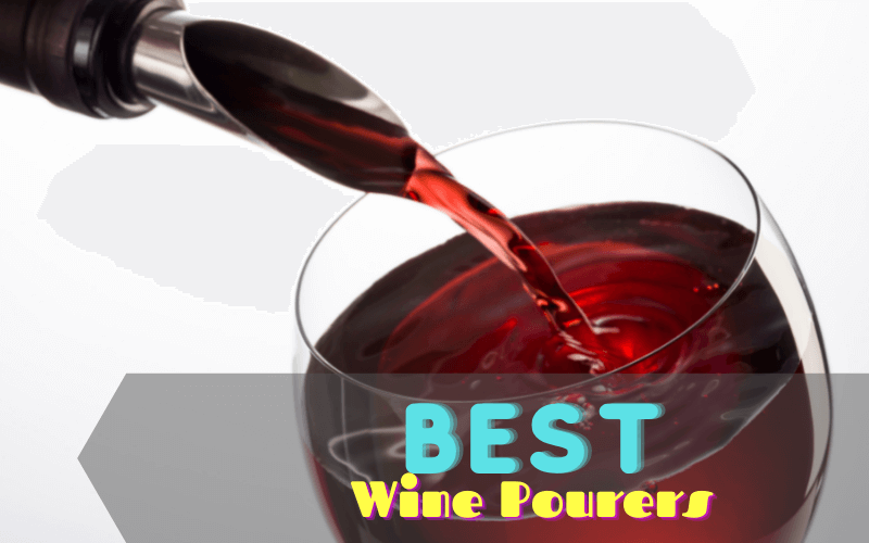 Pouring of red wine into a glass