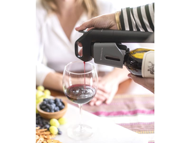 Wine pouring using Coravin Model Three