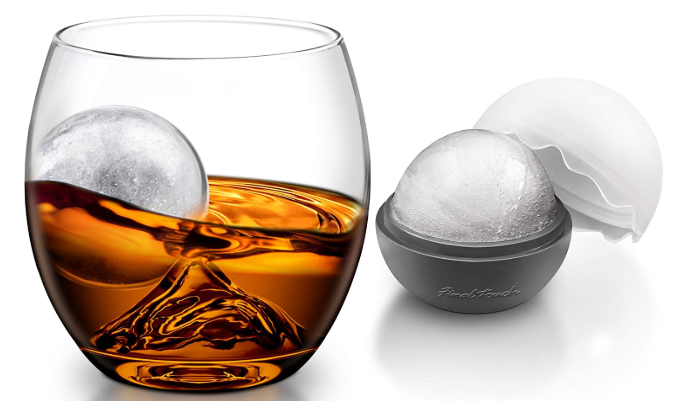 Final Touch On The Rock Glass with Ice Ball Maker - AdvancedMixology