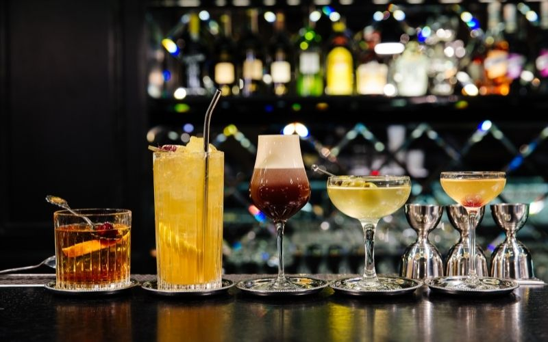 Five kinds of classic cocktails