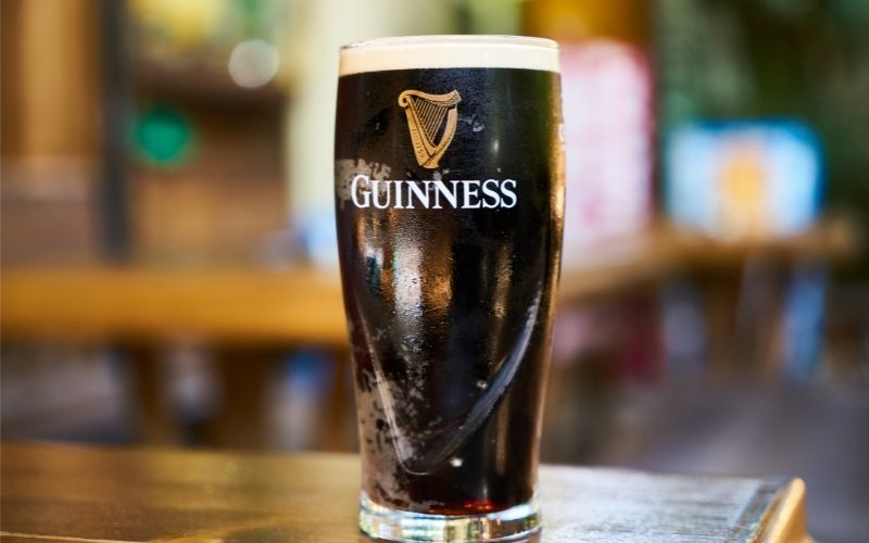 Guinness Glass Filled With Beer