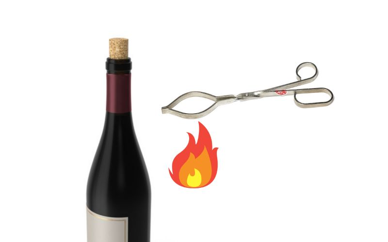 Heated Bottle Tongs - How to Open a Wine Bottle Without a Corkscrew
