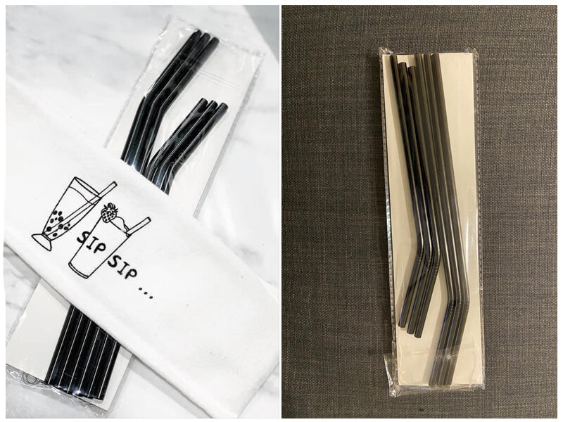 Hiware 12-Pack Black Stainless Steel Straws Reusable with Case review