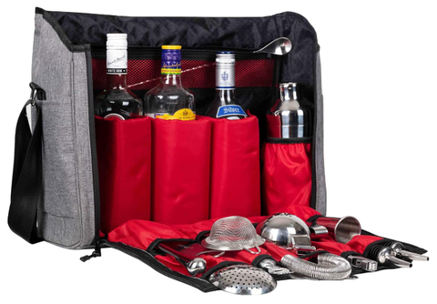 Jillmo Cocktail Shaker Set, 14-Piece Bartender Kit with Waterproof Bartender Travel Bag - AdvancedMixology
