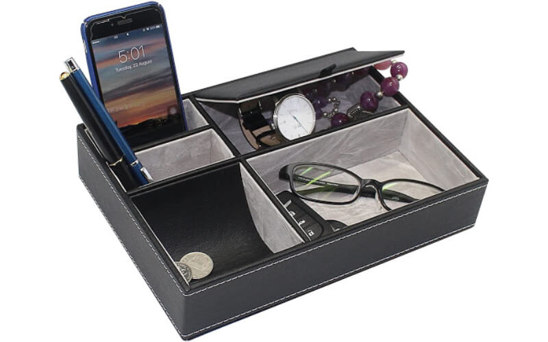 MAGGIFT Faux Leather Valet Tray