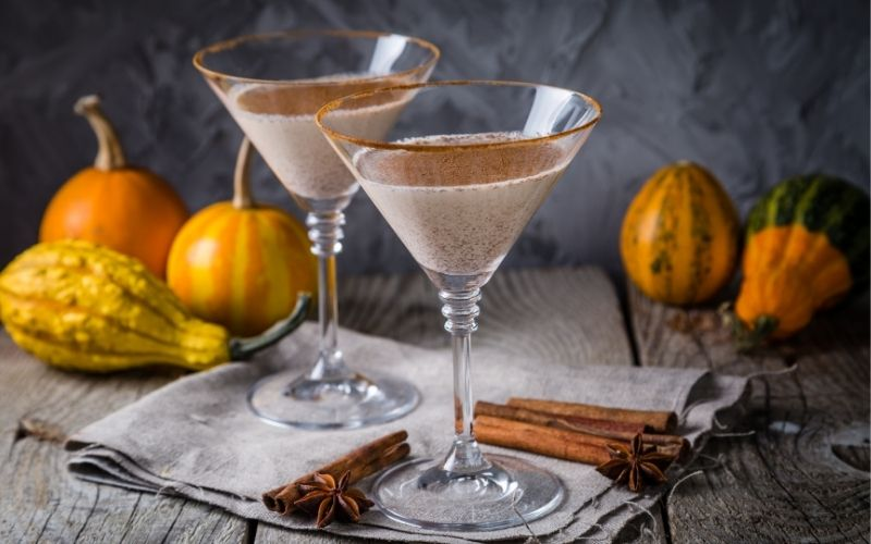 Martini cocktail with Baileys
