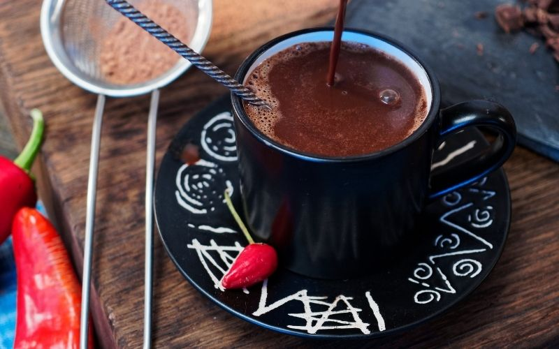Mexican Hot Chocolate with red chilli