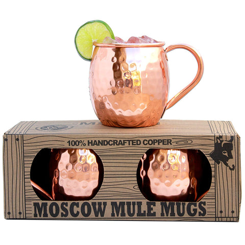 Morken Barware 100% Solid Copper Moscow Mule Mugs