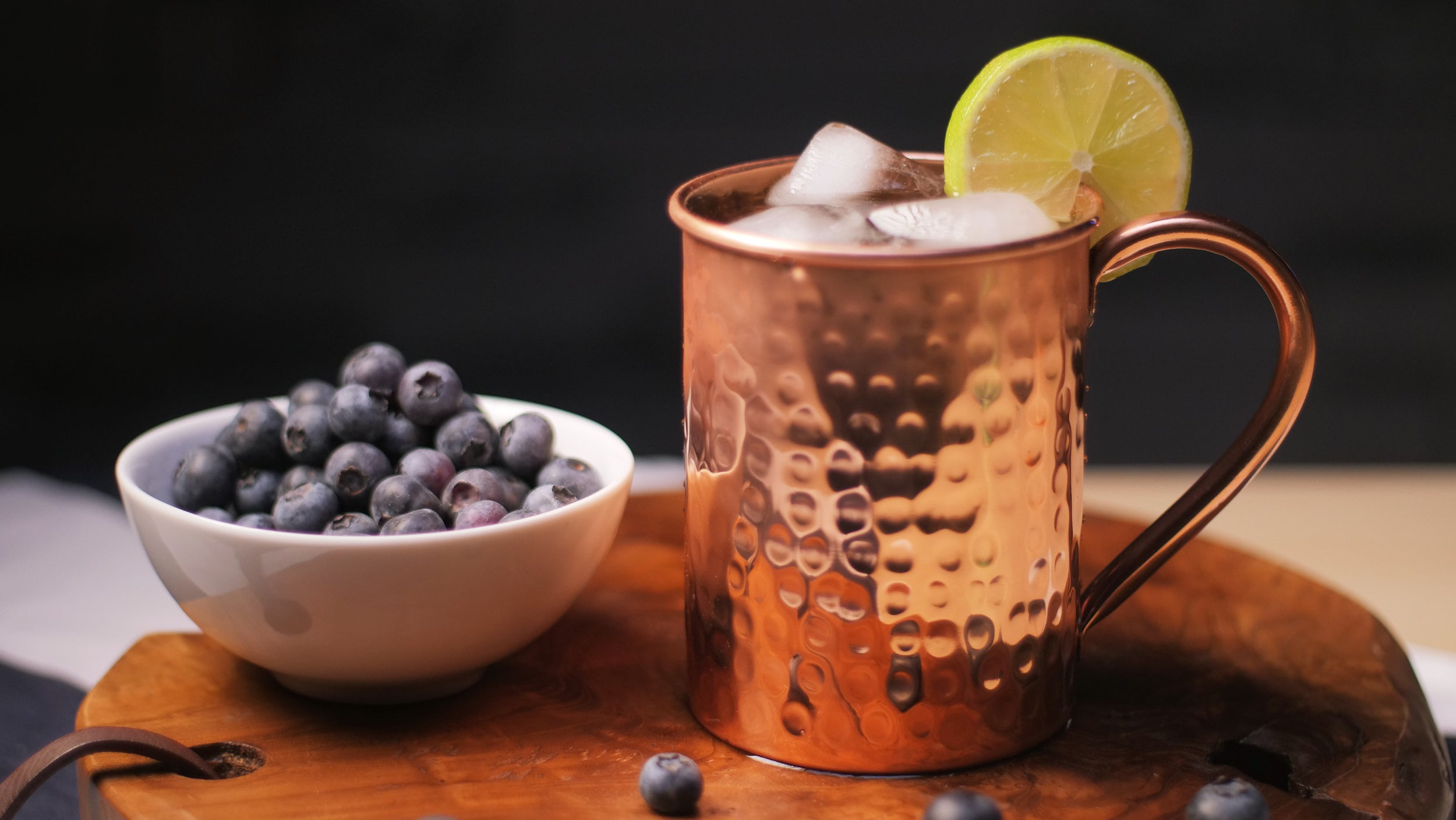 Moscow Blue (Blueberry Mule Variation)