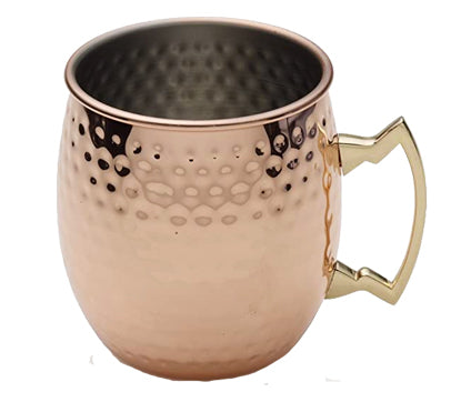 Moscow Mule Stainless Steel Mug with Brass Handle