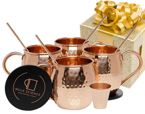 Mule Science Advanced Mixology Copper Mugs