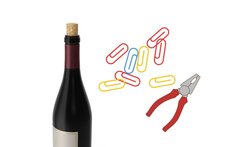 Paper Clips - How to Open a Wine Bottle Without a Corkscrew