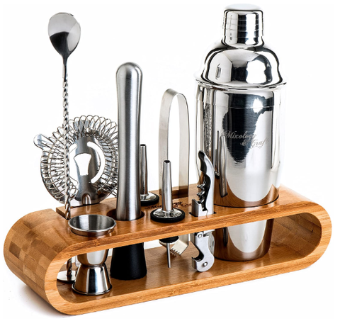 Perfect Home Bartending Kit and Martini Cocktail Shaker Set - AdvancedMixology