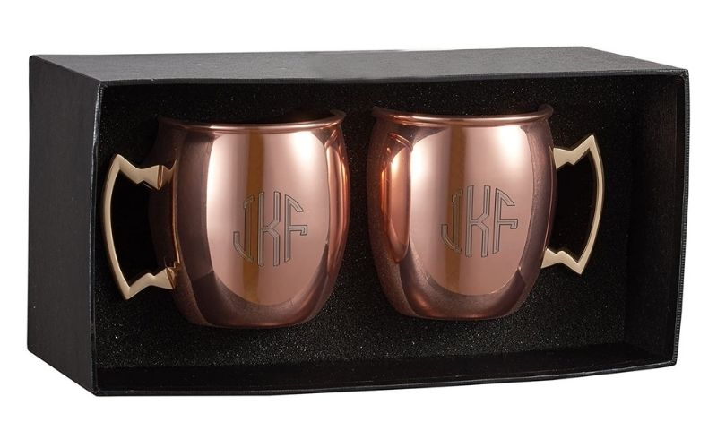 Personalized Set of 2 Moscow Mule Mugs with Free Engraving