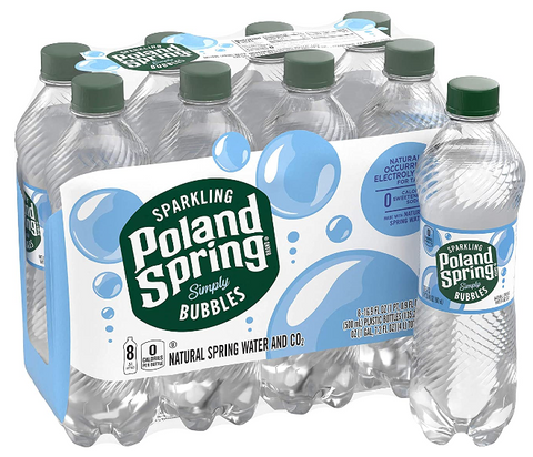 Poland Spring Sparkling Water, Simply Bubbles