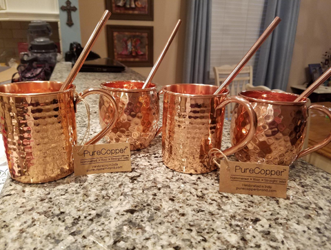 100% Copper Mug For Moscow Mule- 16 oz