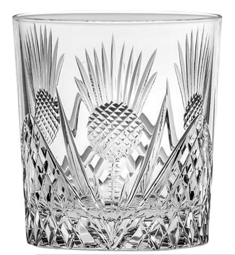 Royal Scot Crystal Scottish Thistle Whiskey Tumbler - AdvancedMixology