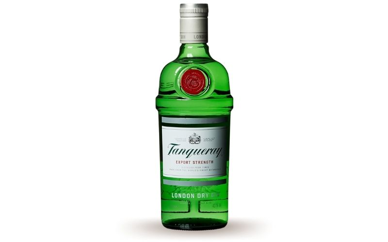 A bottle of Tanqueray
