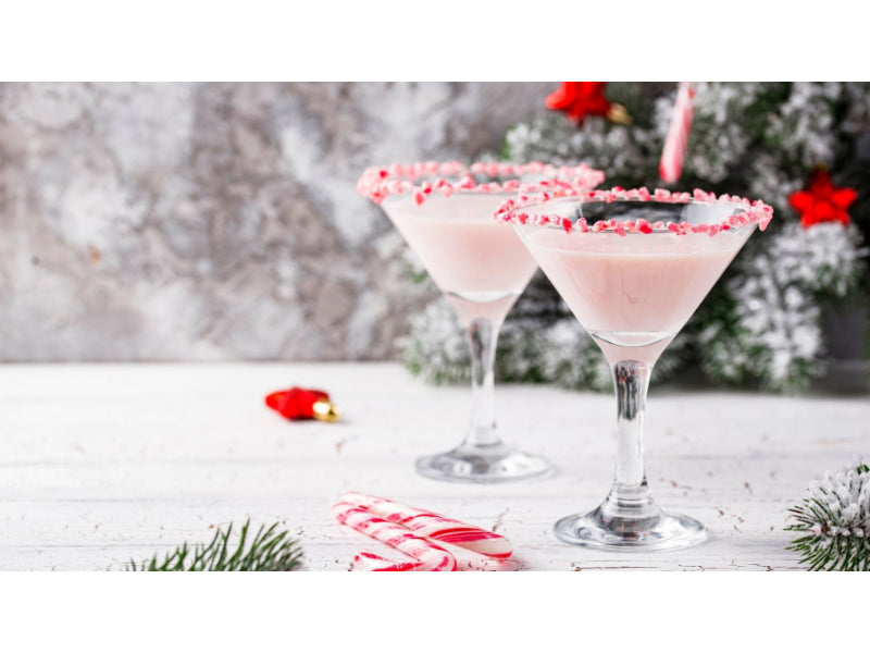 Two glasses of Peppermint Martini