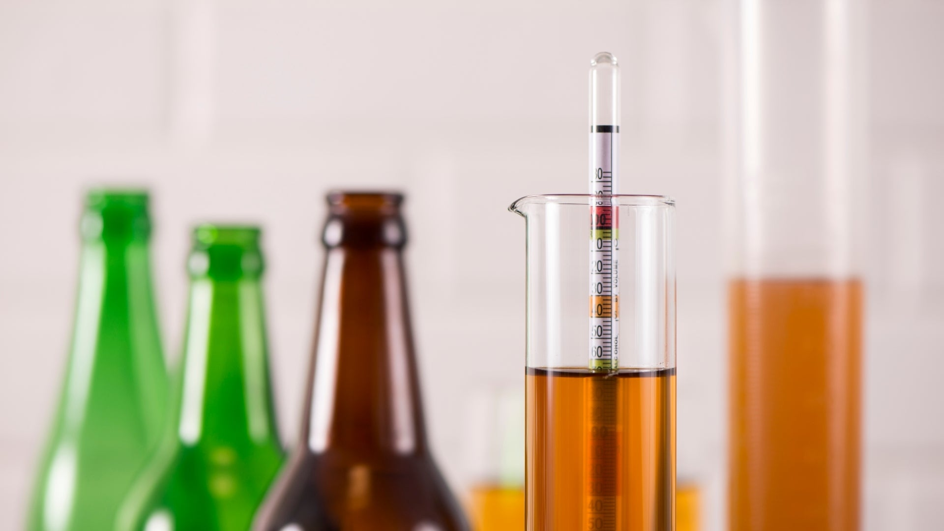 Mead gravity reading with a hydrometer