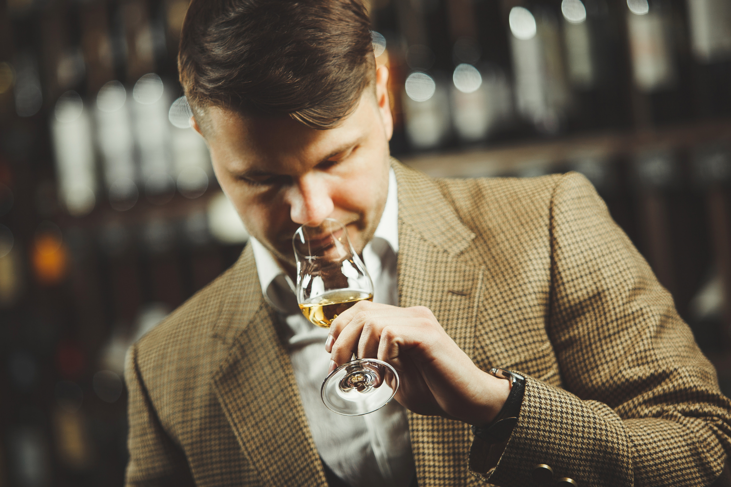 Smelling is the first step to appreciating whiskey