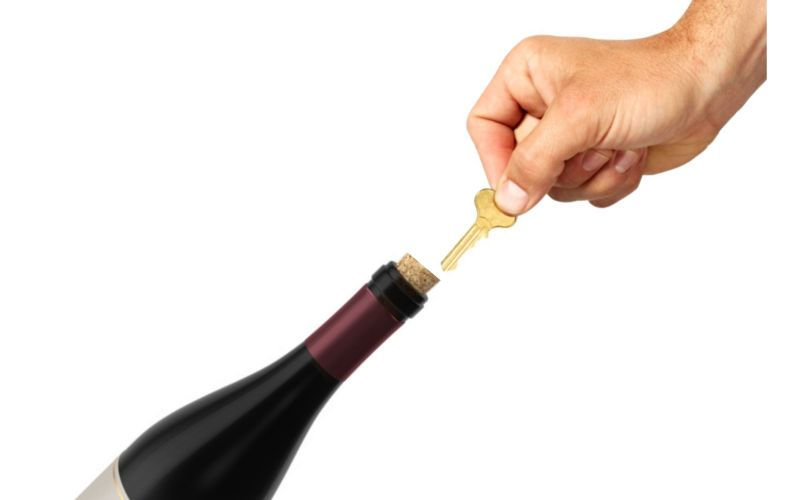 Using a Key - How to Open a Wine Bottle Without a Corkscrew