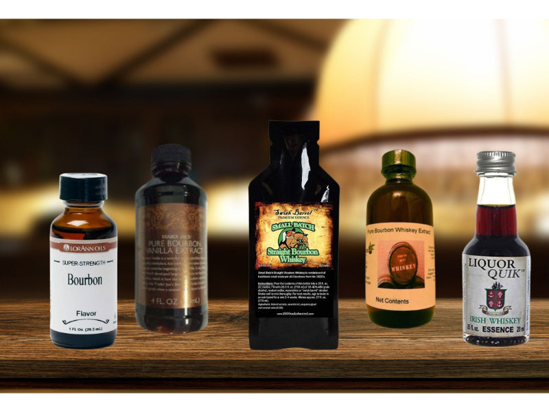Various bourbon extract to choose from