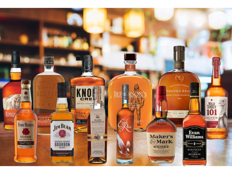 Various bourbons for beginners