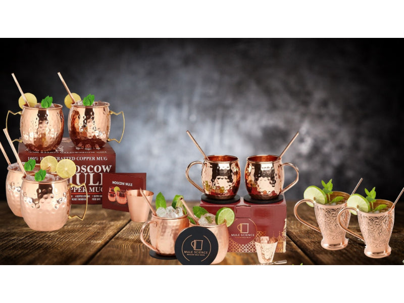 Various types of copper mugs to choose from
