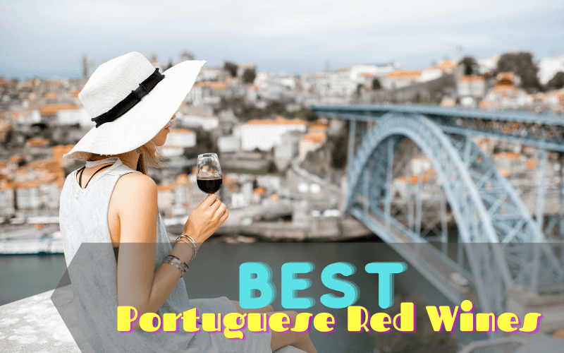 Woman holding a glass of wine in Portugal