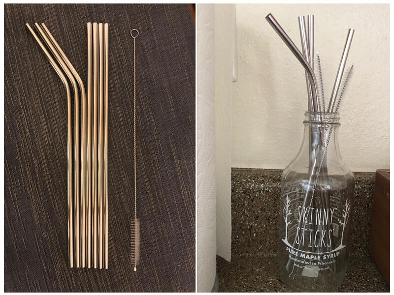 YIHONG Set of 8 Reusable Stainless Steel Metal Straws review