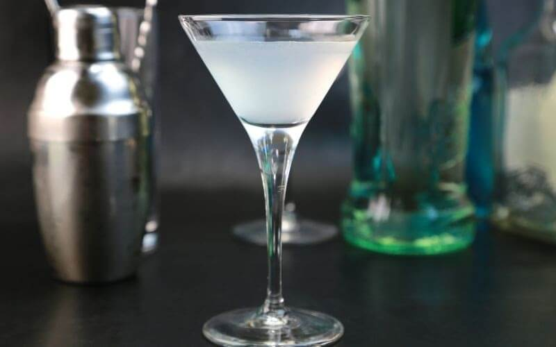 a glass of Gimlet cocktail