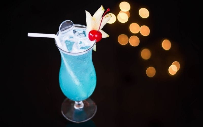 a glass of Chi-chi cocktail