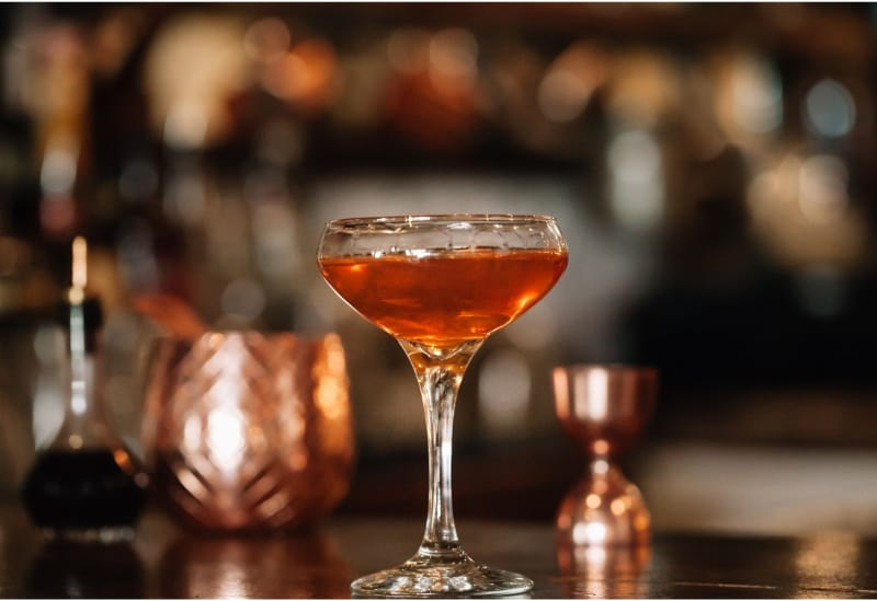 A glass of Mckinley's Delight