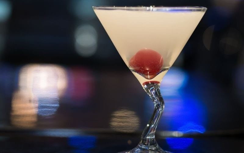 A glass of Melon Lychee Martini