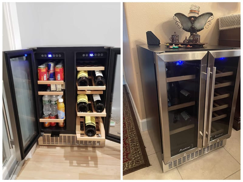 Aobosi Under Counter Beverage & Wine Cooler review
