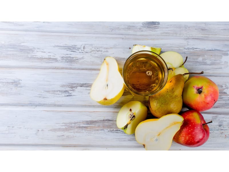 Apple and pear infused gin