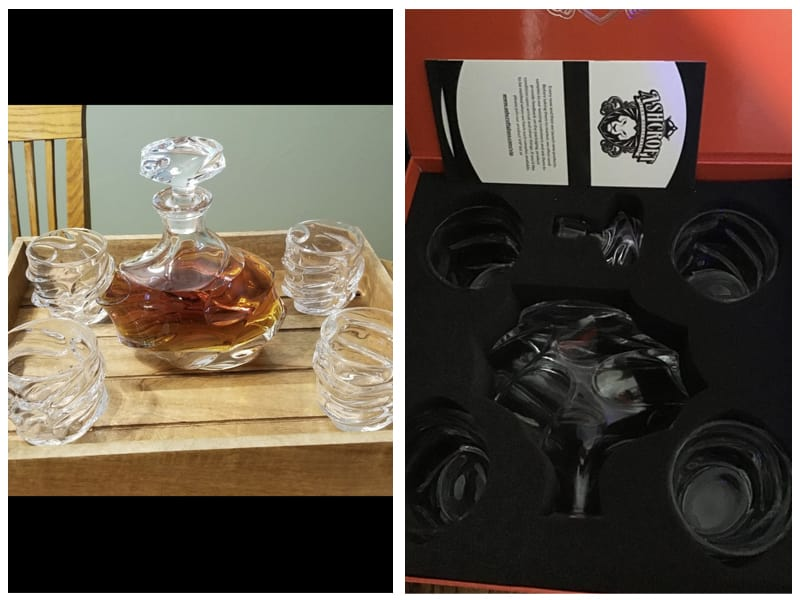 Ashcroft 5-Piece Everest Whiskey Decanter Set Customer Review