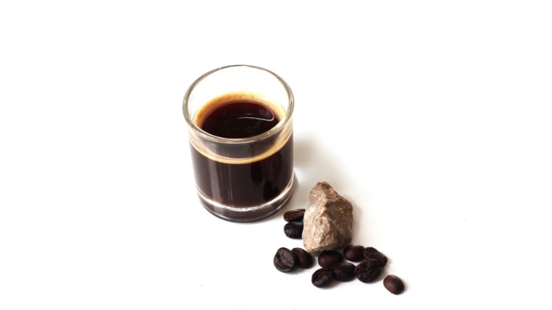 Baby Guinness with coffee granules