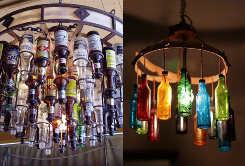 Beer Bottle Chandelier - Image by Dishfunctionaldesigns.blogspot.com