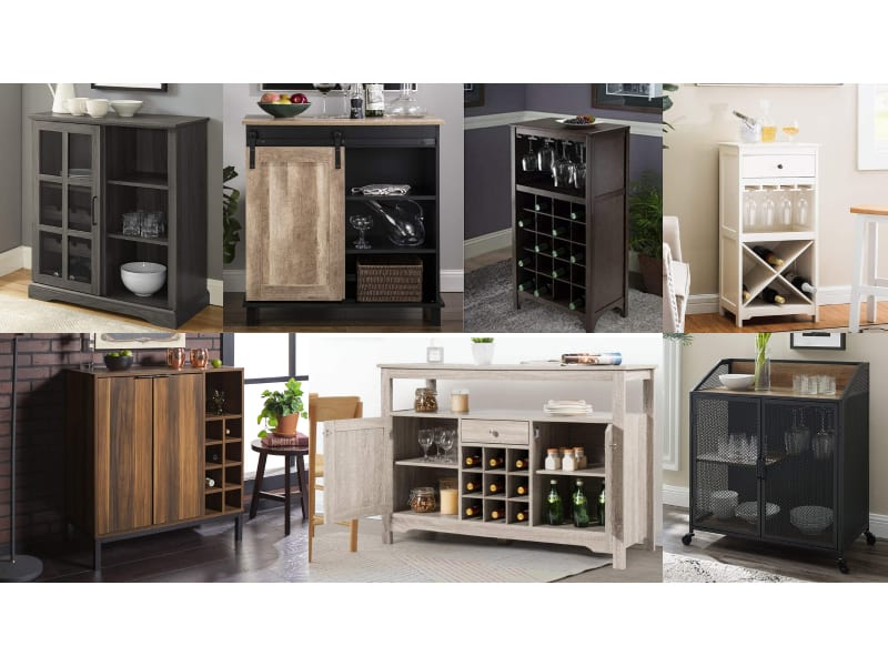 Best Wine Cabinets Collage